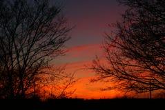 太阳的美好的日落 库存图片