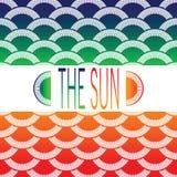 太阳的背景 免版税库存图片