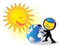 太阳的能源 免版税库存照片