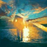太阳的舞蹈 图库摄影