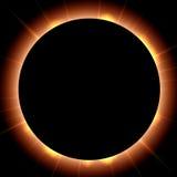 太阳的蚀 库存例证