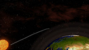 太阳的视位置 向量例证