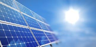 太阳的面板 库存例证