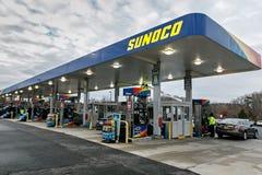 太阳石油公司加油站 图库摄影