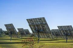 太阳系,有可追踪的元素的概要太阳能发电厂 免版税库存图片