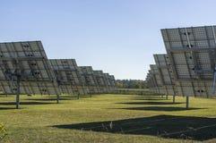 太阳系,有可追踪的元素的概要太阳能发电厂 库存照片