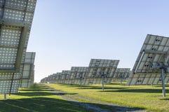太阳系,有可追踪的元素的概要太阳能发电厂 免版税库存照片