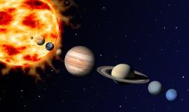 太阳系 免版税库存图片