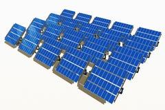 太阳组的面板 免版税图库摄影