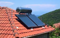 太阳能加热 免版税库存照片