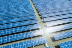 太阳能发电厂特写镜头 图库摄影