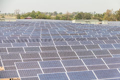 太阳能发电厂建设中在泰国 库存图片