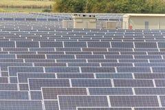 太阳能发电厂建设中在泰国 免版税图库摄影