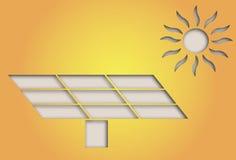 太阳能标志 免版税库存照片