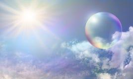 太阳能泡影 免版税库存照片