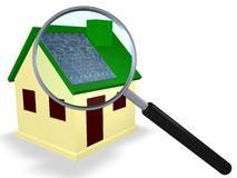 太阳能源的房子 库存照片