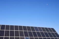 太阳能源的月亮 免版税图库摄影