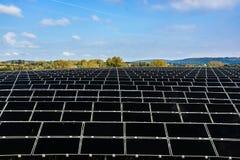 太阳能电池的领域 图库摄影