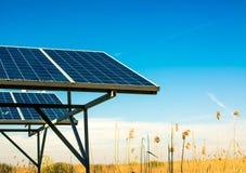 太阳能盘区 库存图片