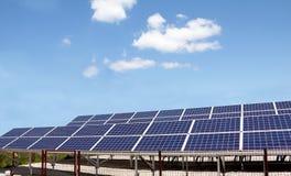 太阳能盘区 免版税库存照片