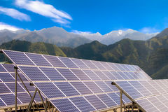 太阳能盘区 免版税图库摄影