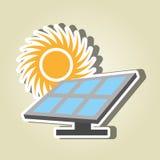 太阳能设计 皇族释放例证