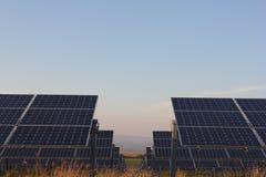 太阳能,太阳电池板,可更新性, PV模块 免版税库存照片