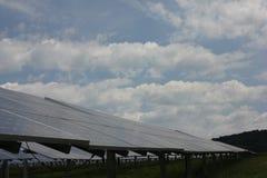 太阳能,太阳电池板,可更新性 免版税图库摄影