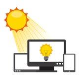 太阳能 皇族释放例证
