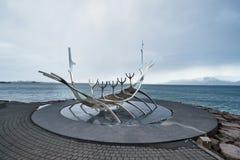 太阳航海者,雷克雅未克,冰岛 图库摄影