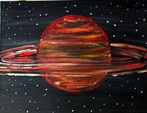 太阳艺术的行星 库存照片