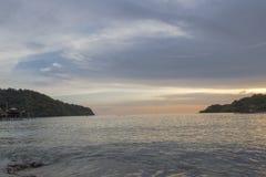 太阳落,光是美丽的 免版税库存图片