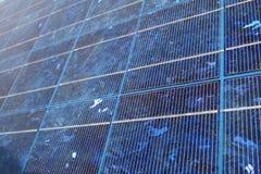 太阳蓝色的面板 免版税库存照片