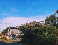 太阳被亲吻的房子 免版税库存图片