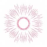 太阳装饰元素的抽象光芒 向量例证