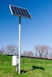 太阳设备评定的面板 免版税库存照片