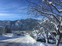 太阳谷风景,至尊蓝鸫的天, Ketchum爱达荷 免版税库存图片