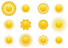 太阳象设置了例证 库存照片