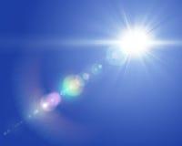 太阳透镜火光 免版税库存照片