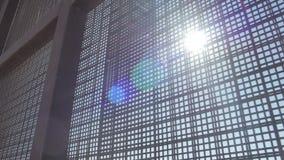 太阳通过篱芭发光在美国和墨西哥边界 股票录像
