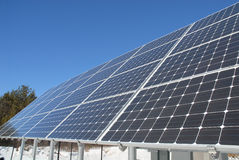 太阳银行的面板 免版税库存图片