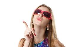 太阳镜妇女年轻人 库存图片