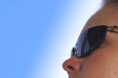 太阳镜妇女 库存图片