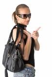 太阳镜妇女 免版税库存照片