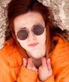 太阳镜是圆的 免版税库存图片