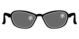太阳镜的符号图象 免版税库存照片