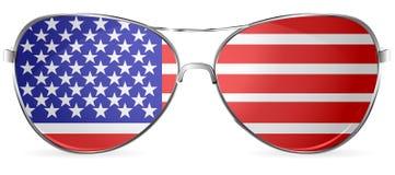 太阳镜美国 免版税图库摄影