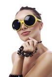 太阳镜黄色 免版税库存图片
