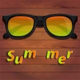 太阳镜,夏天 免版税库存照片