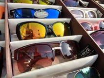 太阳镜,紫外保护 库存图片